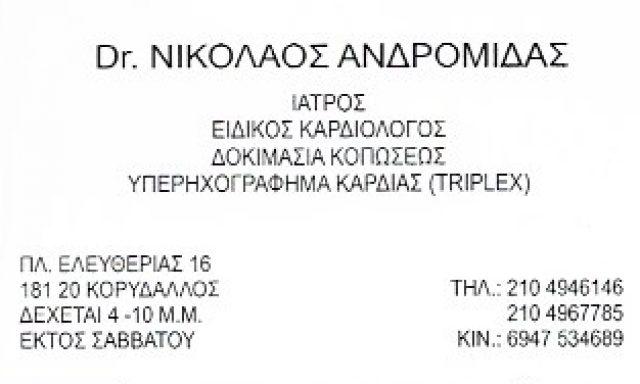 ΑΝΔΡΟΜΙΔΑΣ ΝΙΚΟΛΑΟΣ