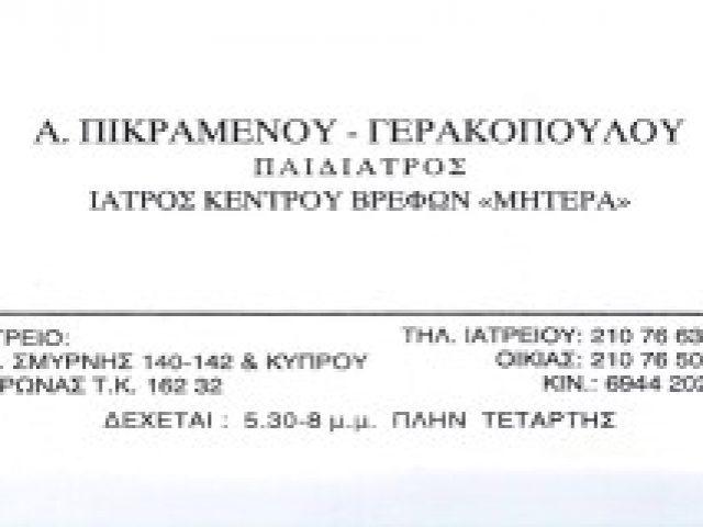 ΠΙΚΡΑΜΕΝΟΥ – ΓΕΡΑΚΟΠΟΥΛΟΥ ΑΝΔΡΟΜΑΧΗ