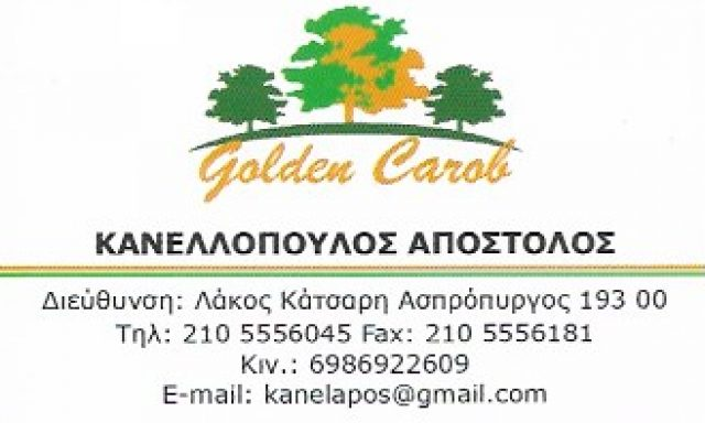 GOLDEN CAROB – ΚΑΝΕΛΛΟΠΟΥΛΟΣ ΑΠΟΣΤΟΛΟΣ