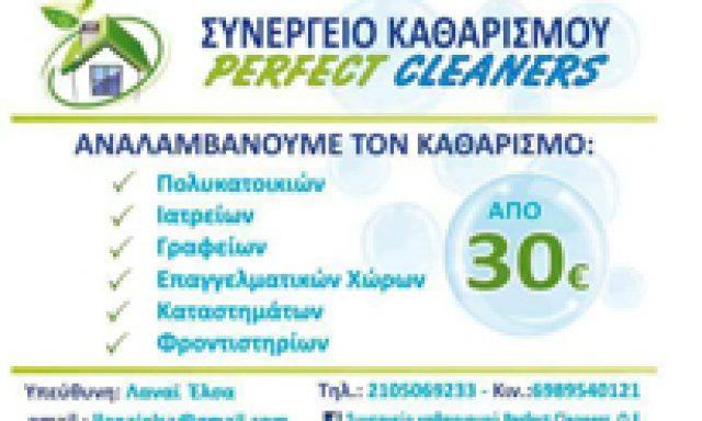 ΣΥΝΕΡΓΕΙΟ ΚΑΘΑΡΙΣΜΟΥ PERFECT CLEANERS OE