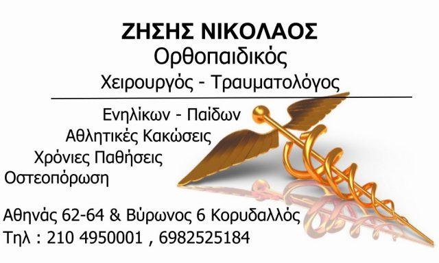 ΖΗΣΗΣ ΝΙΚΟΛΑΟΣ